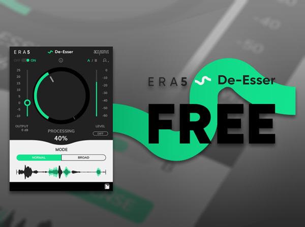 Accusonus - Free ERA 5 De-Esser Plug-in