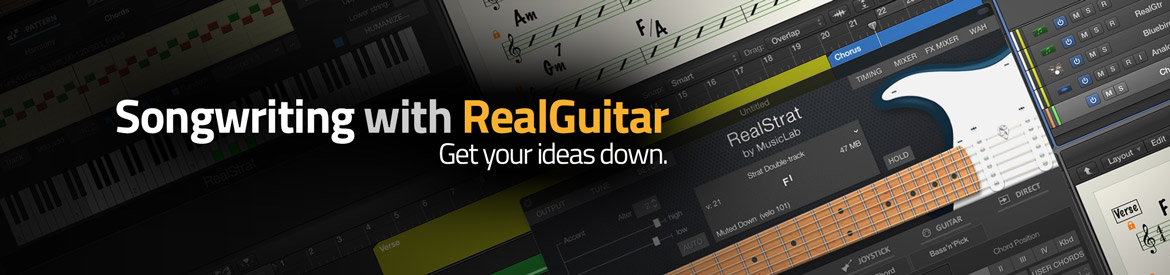Songwriting with RealGuitar