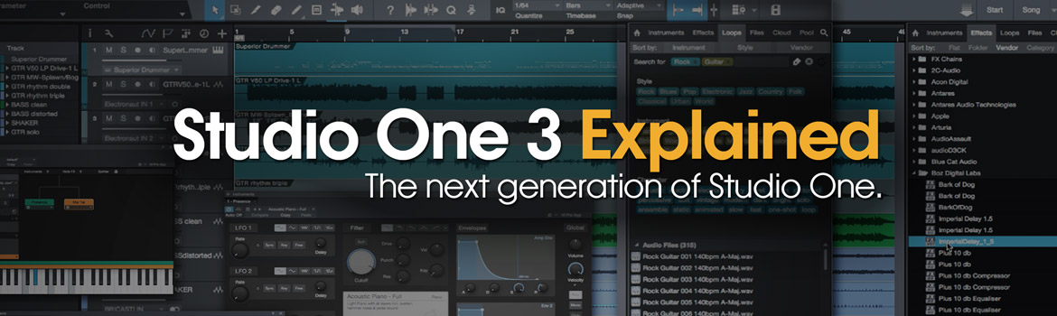 Studio One 3 Explained