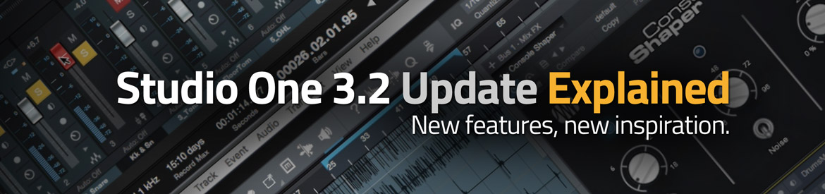 Studio One 3.2 Update Explained