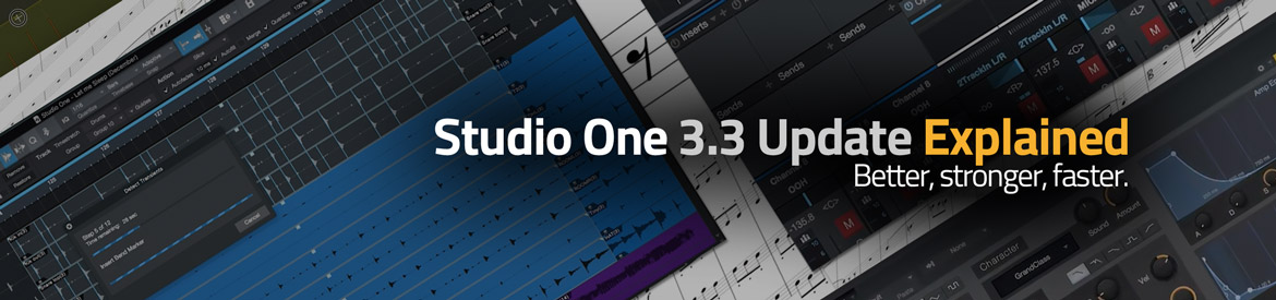 Studio One 3.3 Update Explained