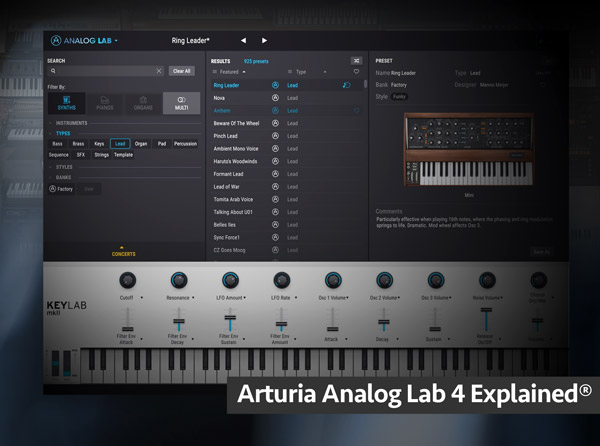 Arturia Analog Lab 4 Explained