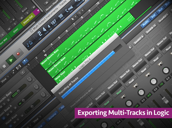 Exporting Multi-Tracks in Logic