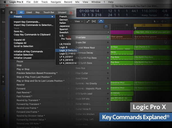 Logic Pro X Key Commands Explained