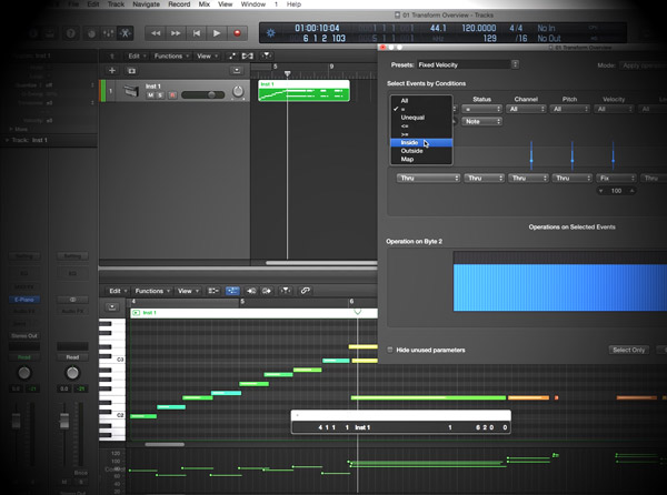 Logic Pro X Know-How: MIDI Transform Window