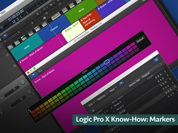 Logic Pro X Know-How: Markers