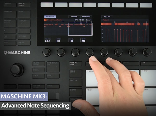 MASCHINE MK3: Advanced Note Sequencing
