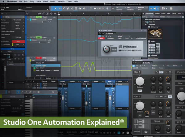 Studio One Automation Explained