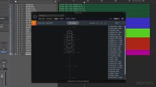 Tweaking Mix Balance Using the Visual Mixer